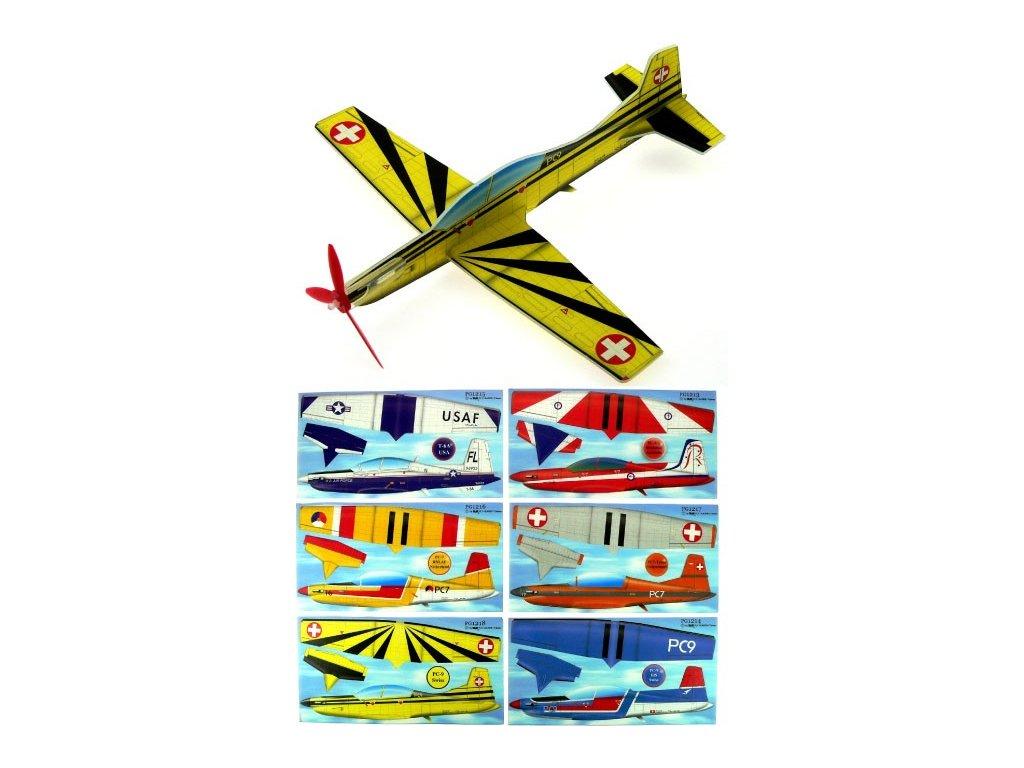 Hádzací model lietadla  Pilatus PC7 24cm
