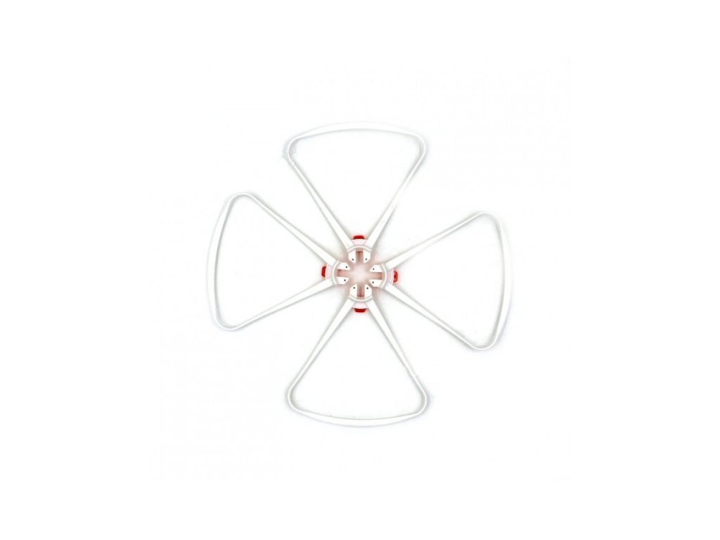 Biele chrániče rotorov pre SYMA X8SW/X8SC/X8PRO X8S-04