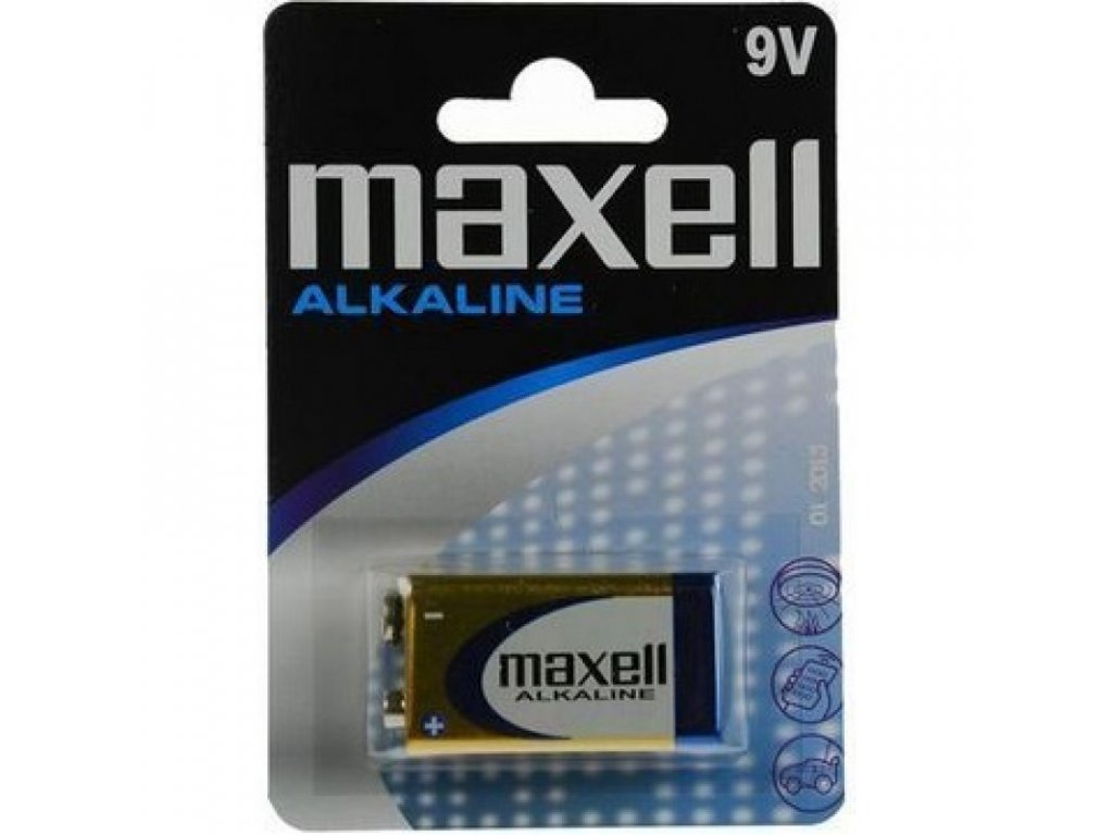 MAXELL 9V Alkaline, blister 1ks