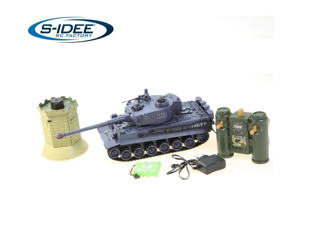 RC Bojový tank German Tiger s vežou 1:28 2,4Ghz