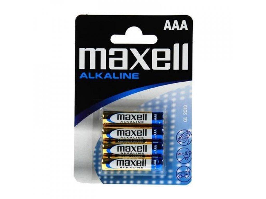 Batérie MAXELL AAA LR3 1,5V / 1000mAh Alkaline, bllister 4ks