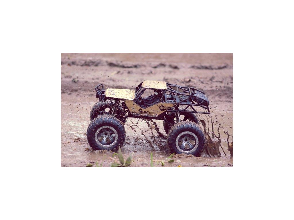 RC Vodotesný MIRACLE CRAWLER - PRO - 60 minút jazdy v bahne, zlatý