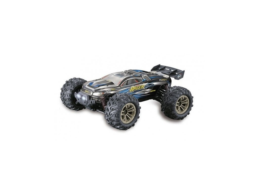 Auto na diaĺkové ovládanie Truggy Racer 4WD 1:16 2.4GHz RTR - modrý
