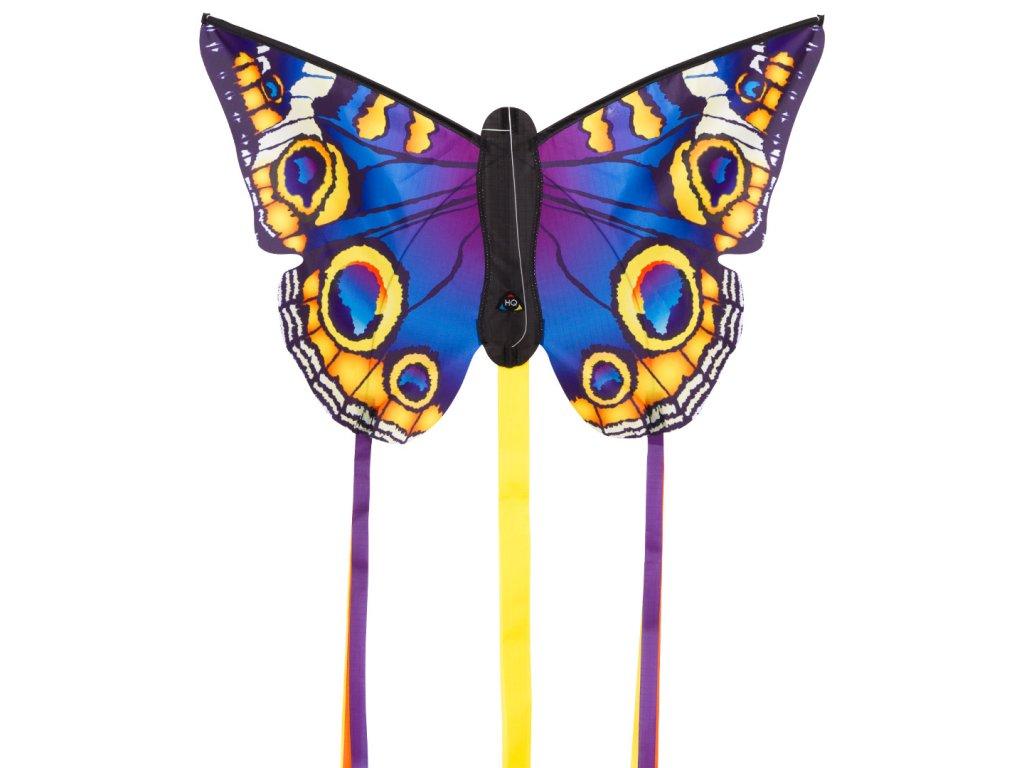 Šarkan Motýl fialovo žltý 52 cm
