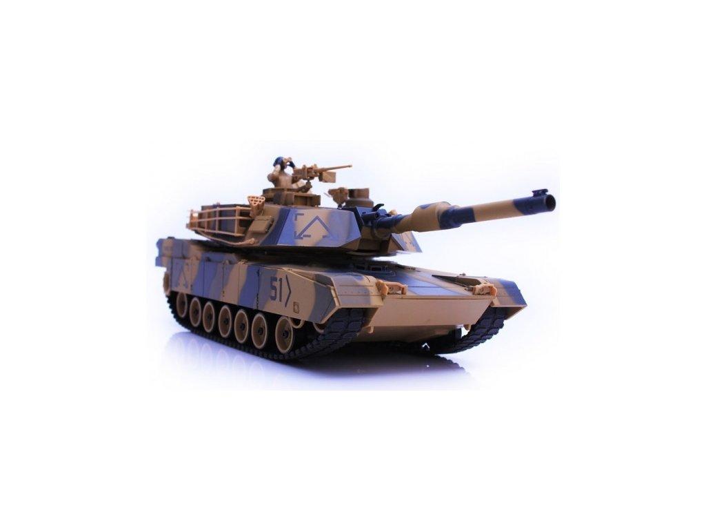 RC tank H-Q Abrams M1A2 airsoft, zvuk 1/24