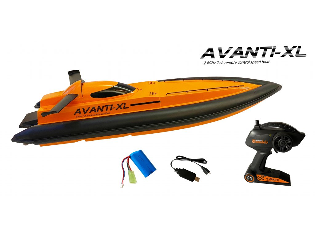 Rc rýchlostný čln df-models AVANTI XL 2,4GHz 81cm žlutá