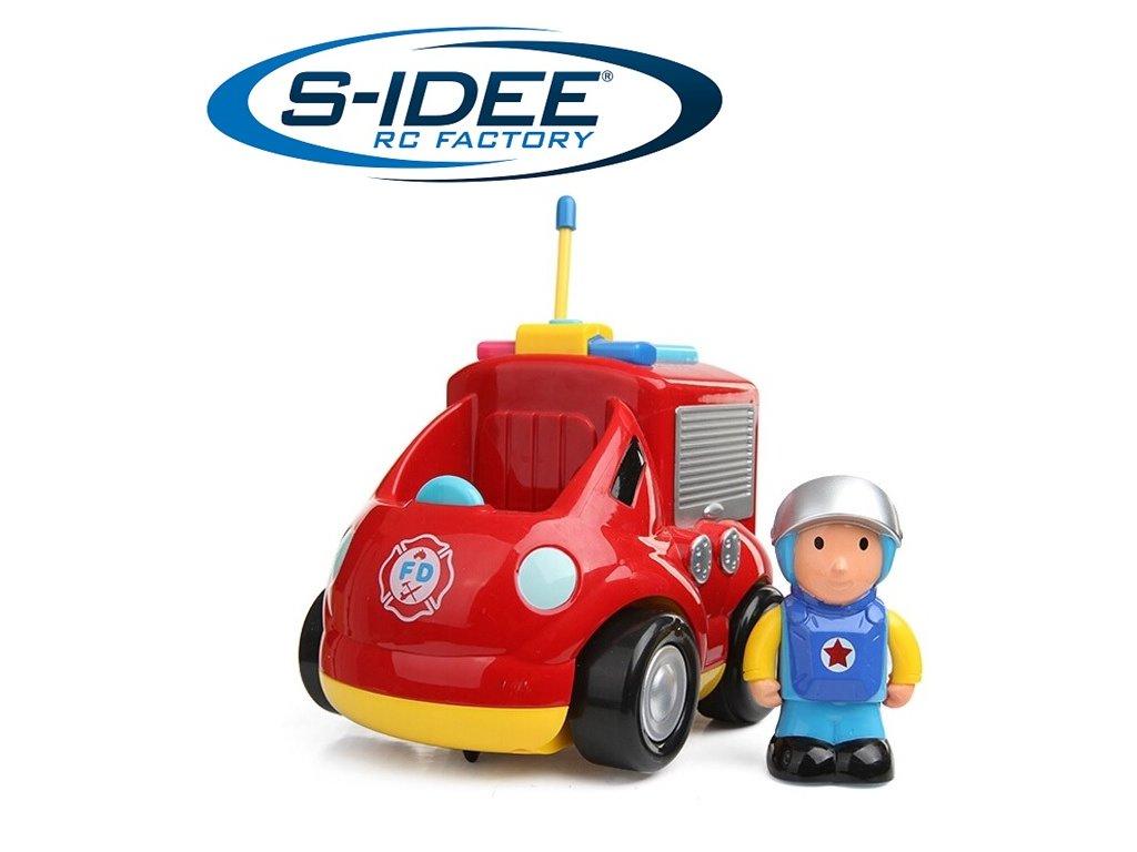 RC hasičské auto pre nejmenších, LED so zvukovými efektami
