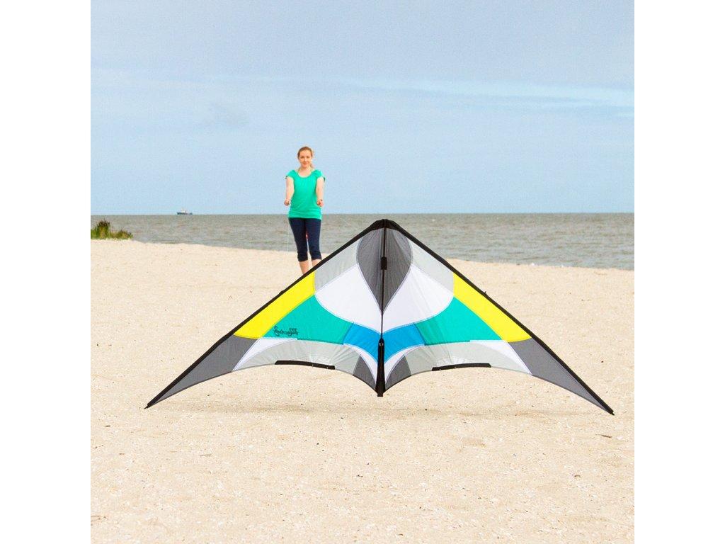 Profesionálny riaditeľný šarkan Maestro III Aqua PROFI 220 cm, Ripstop-Polyester