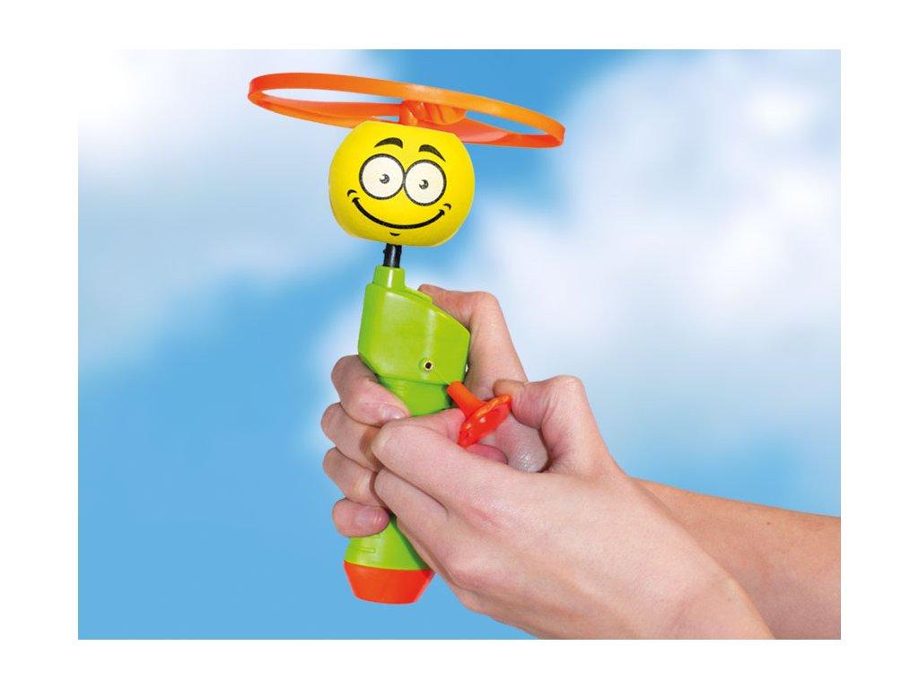 SPIN BALL smajlík vystreľovacia vrtuľka