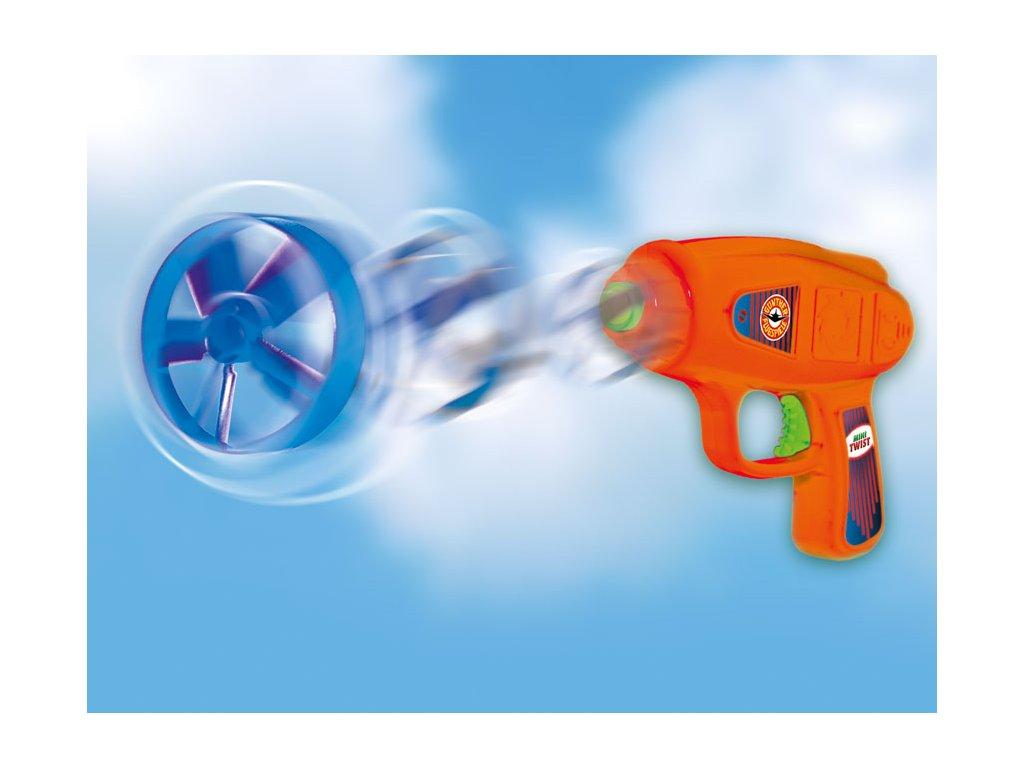 MINI TWIST vystreľovacie vrtuľky, 4 kusy s odpalovačom