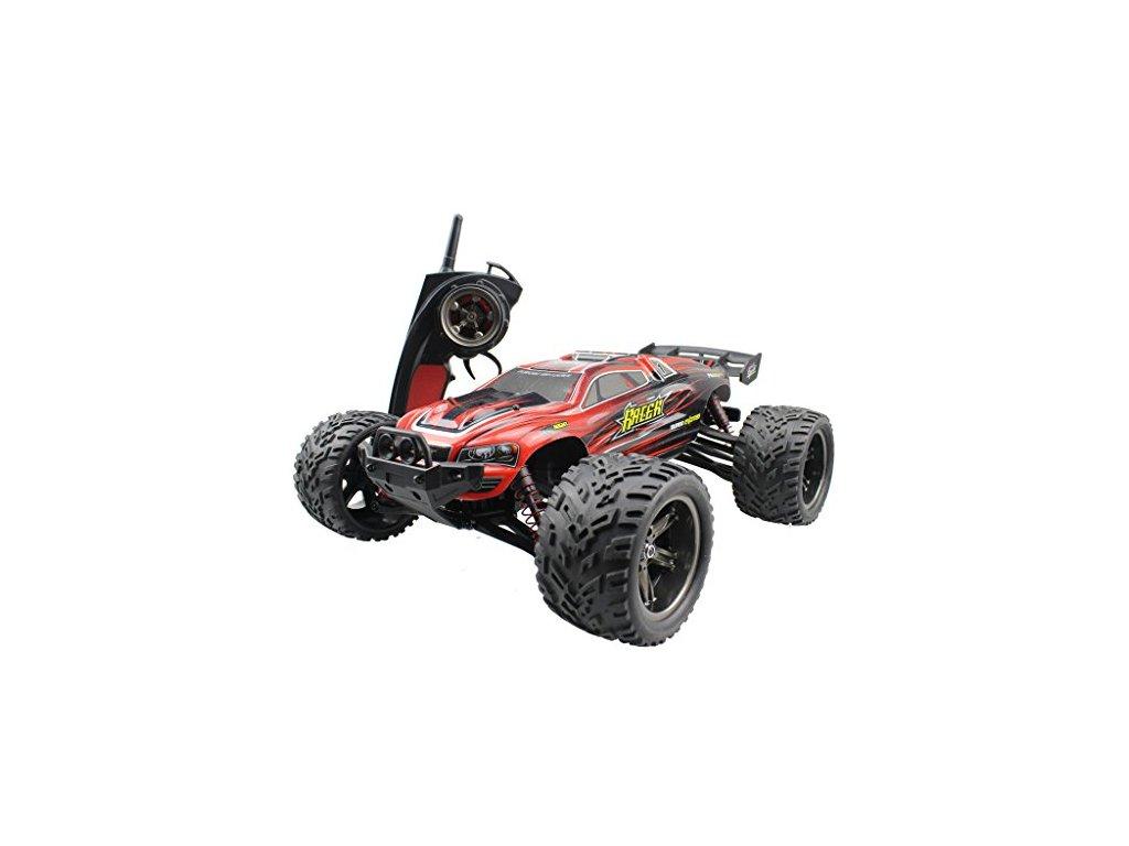 RC auto Monster Truggy1:12, 38km/h s akupackom RTR IP4 ČERVENÝ