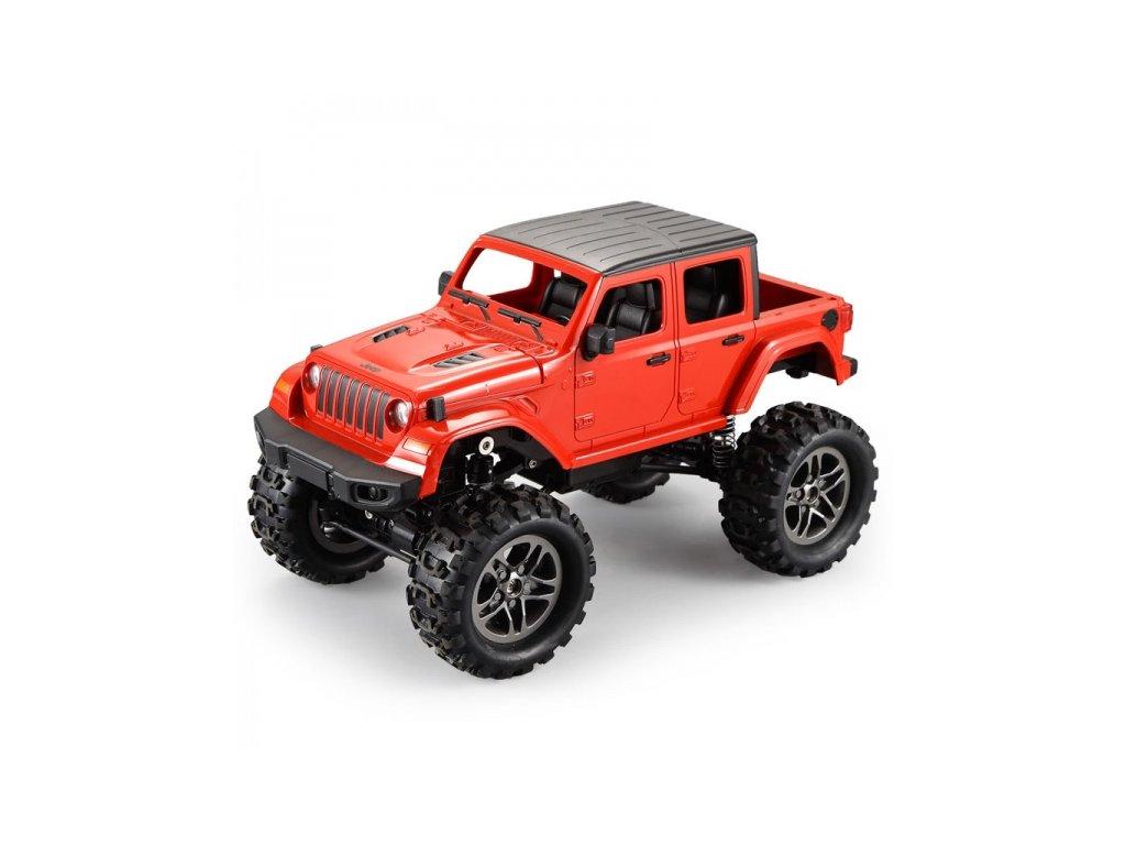 RC Crawler Jeep Wrangler Pickup 1:14 2,4 GHz - Červený