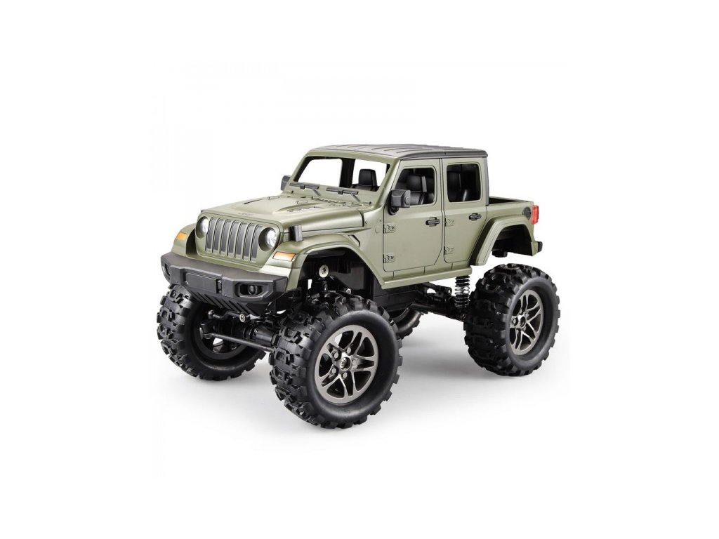 RC Crawler Jeep Wrangler Pickup 1:14 2,4 GHz - Zelený