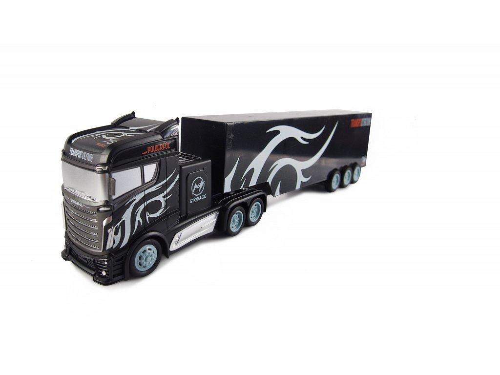 RC Kamión s veľkým návesom 2WD, 1:16, bohaté príslušenstvo, semafór, radar, RTR
