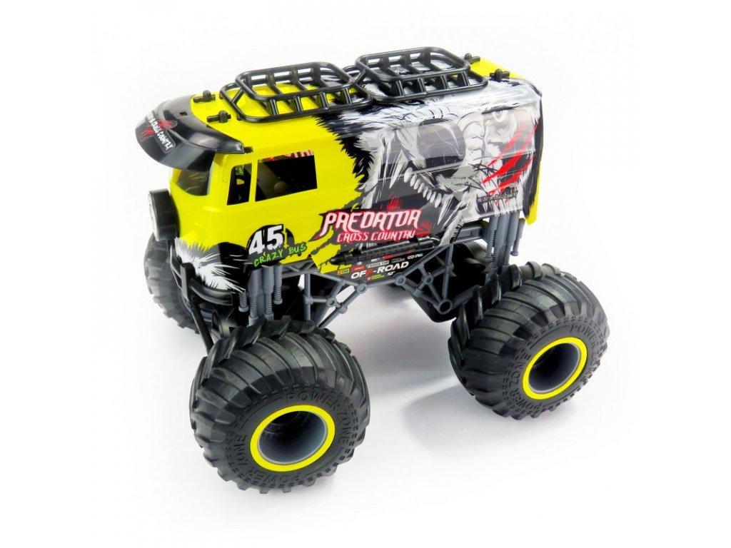 Rc auto Big Wheel Cars 1:16 Predator Cross Country, 2,4 Ghz, 2WD, RTR, žltá
