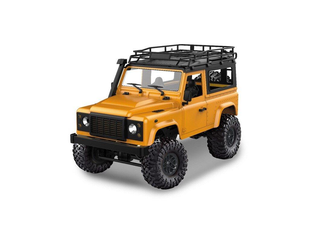 Rc auto D90 Rock Crawler Defender 1:12, 4WD, 2,4 GHz, LED, 100% RTR, žltá
