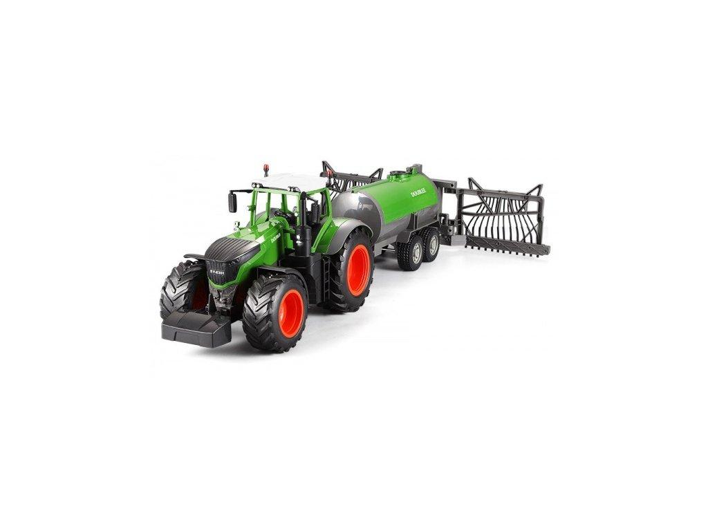 RC Traktor s funkčnou kropiacou cisternou 1/16