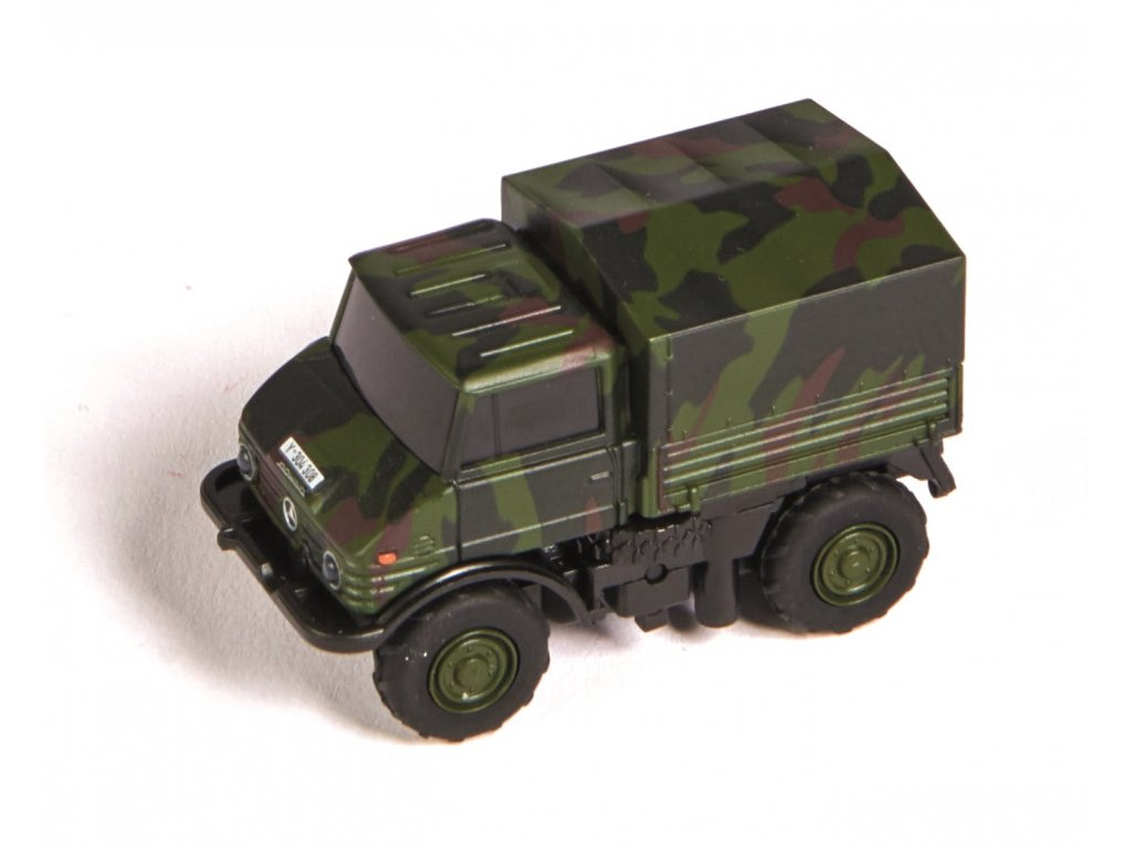 RC auto CARSON MB Unimog U406 Camouflage 1:87