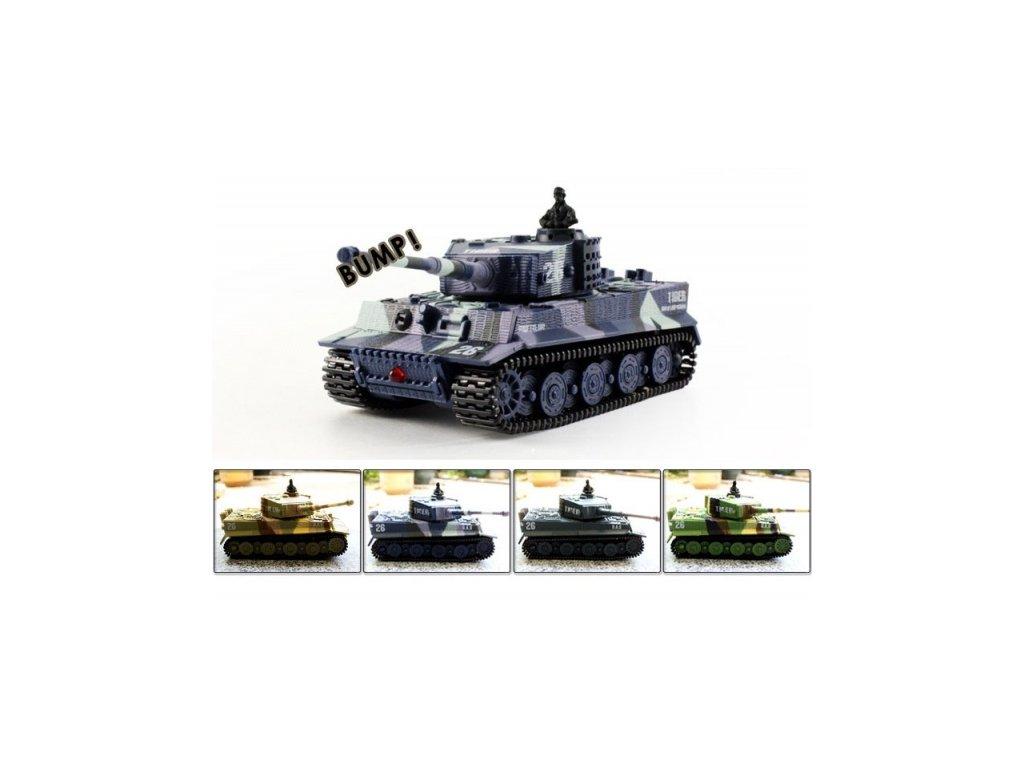 Mini tank Tiger 1/72 - RC model tanku