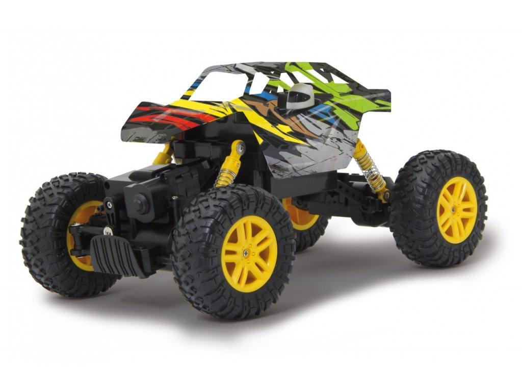 RC Crawler Hillriser - žltá farba, 1:18, 4WD