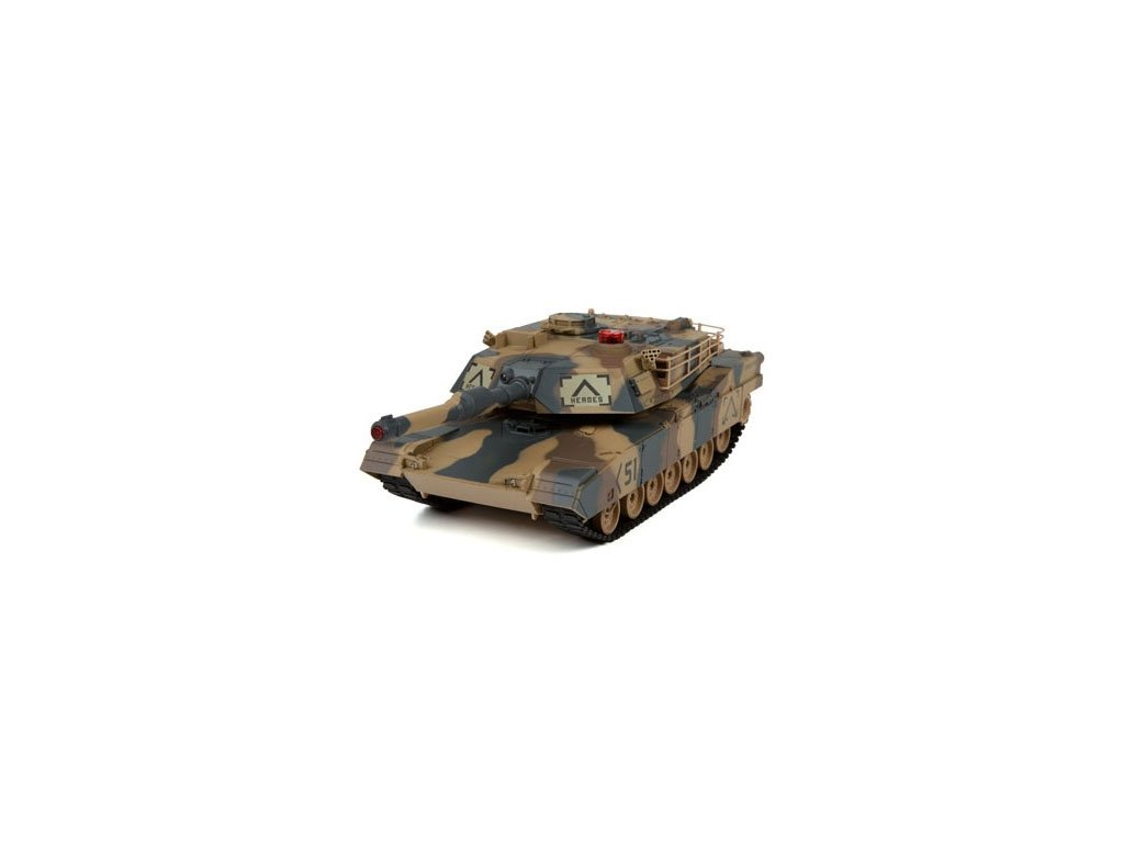 RC tank Abrams 1:24 - infra strely 27MHz a, 40MHz