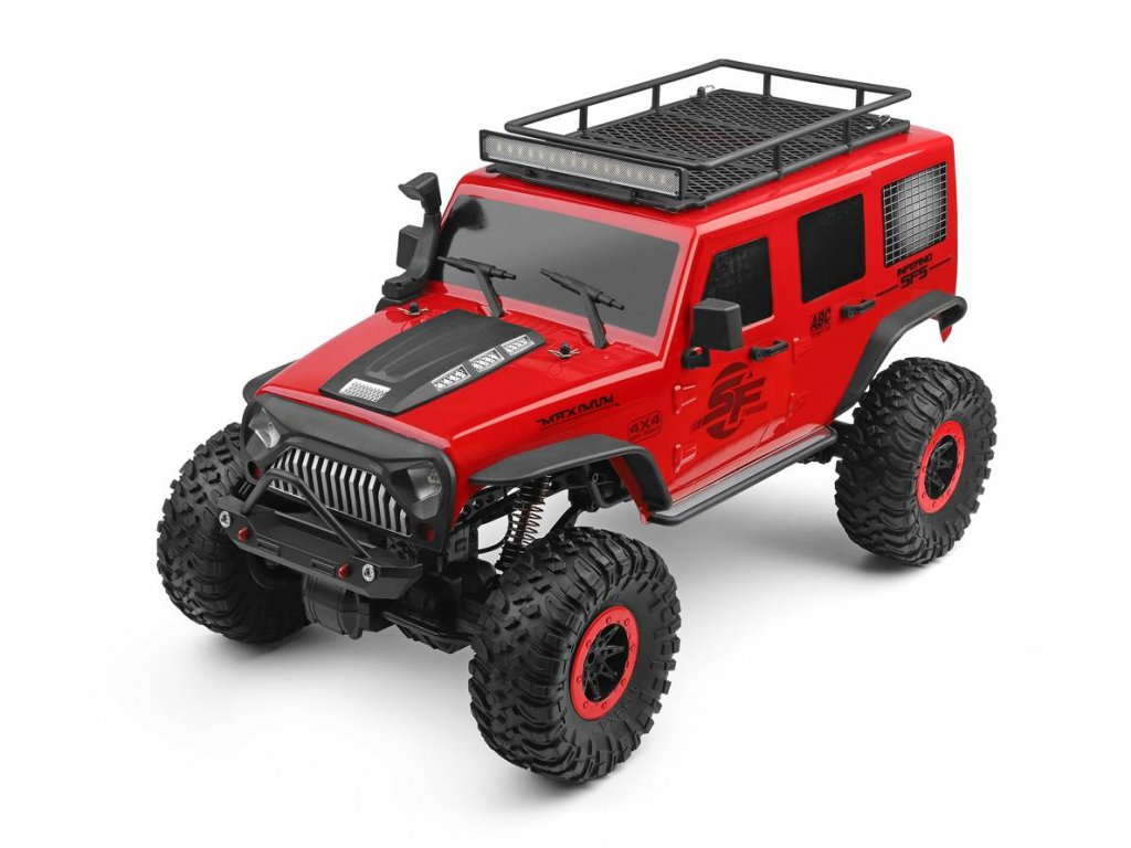 Rc auto Jeep Crawler 4WD, 1:10, 2,4 GHz, LED rampa, RTR
