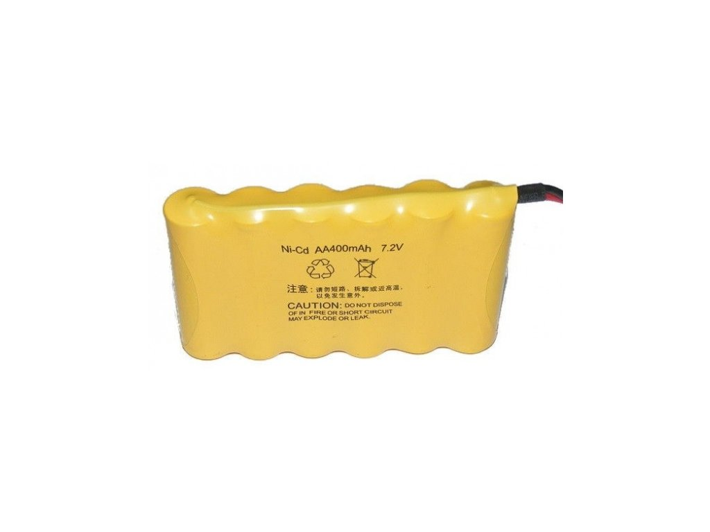 NiCd 400mAh 7,2V battery pack