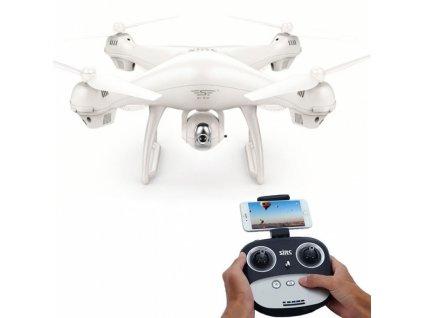 RC DRON s GPS a FOLLOW ME - SJ70W, biely