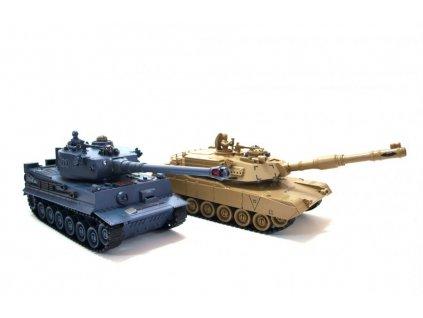 Sada bojujúcich infra tankov PK nemecký tiger vs. Abrams M1A2 1:28