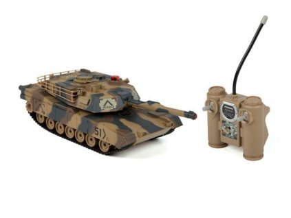 RC tank Abrams 1:24 - infra strely 2,4Ghz