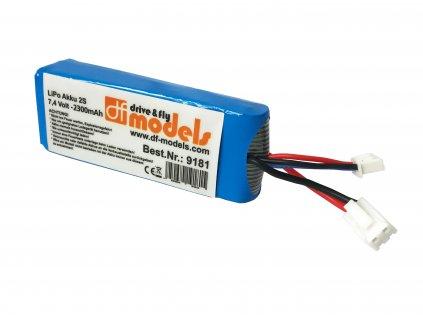 Bateria 2S LiPo 7,4V 2300 mAh (pre SkyWatcher race 9180)