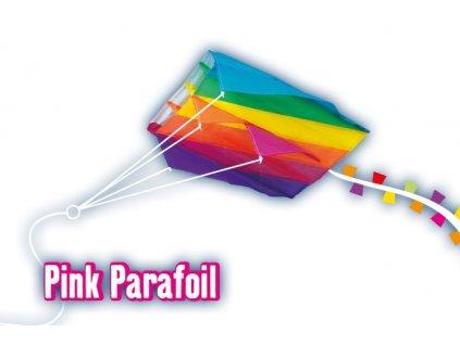 Šarkan PINK PARAFOIL 60x51