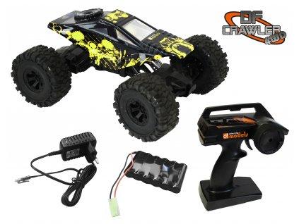 RC auto DF-Crawler 4WD RTR -žlto čierný