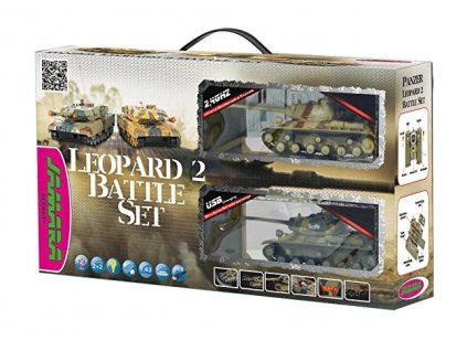 Sada bojujúcich tankov Battle set Leopard 2,4 GHz