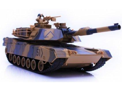 RC tank H-Q Abrams M1A2 airsoft, zvuk 1/24, skúšaný, nestrieľa