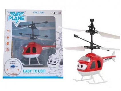 Mini helikoptéra - červená