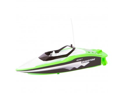 Mini RC rýchlostný čln zelený RTR