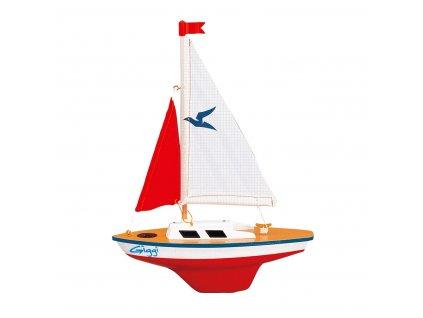 Model plachetnice pre deti GIGGI 24x32 cm (drevo)