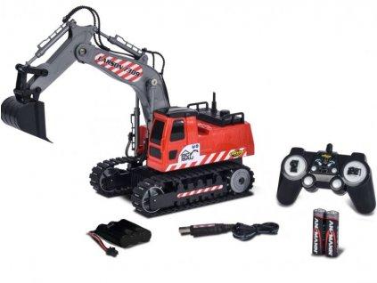 RC Pásový bager CARSON 1:26 RTR s akumulátorom a batériami
