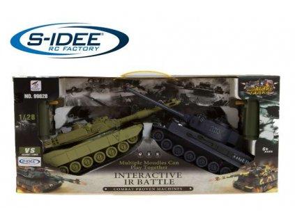 RC sada bojujúcich tankov M1A2 vs TIGER 103 2,4 GHz