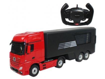 RC Kamion Mercedes-Benz Actros s návesom 1:26 2.4GHz RTR - červený