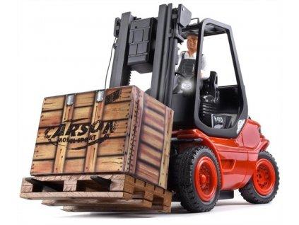 RC vysokozvižný vozík LINDE červený RTR, LED svetla a zvuk.