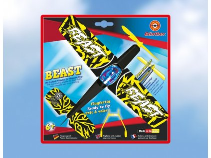 Lietadlo na gumu BEAST 25x22 cm
