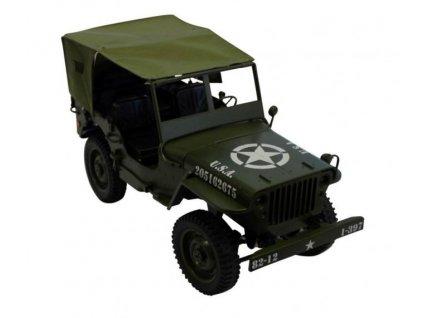 Plachtová strecha na vojenské RC auto Jeep Willys obj.č. 50370 a 50375