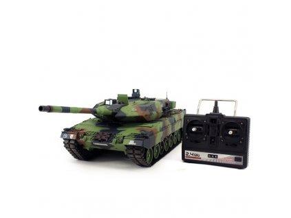RC tank Leopard 2A6 flecktarn BB+IR 2,4Ghz 1:16