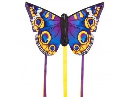 Šarkan Motýľ fialovo žltý 130x80 cm