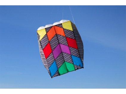 Neriaditeľný šarkan pre deti Parafoil 5 Carbon Rainbow 57x75 cm