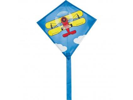 Mini šarkan pre deti s lietadlom 30 cm