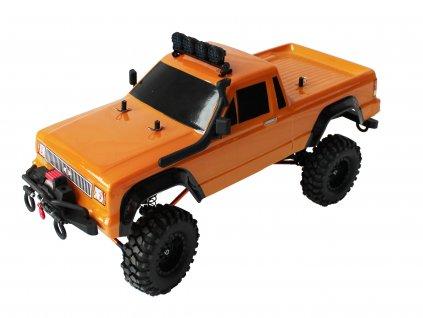 Rc auto DF-4S Crawler XL 313mm Edition, LED, naviják, 2 rýchlosti, oranžový