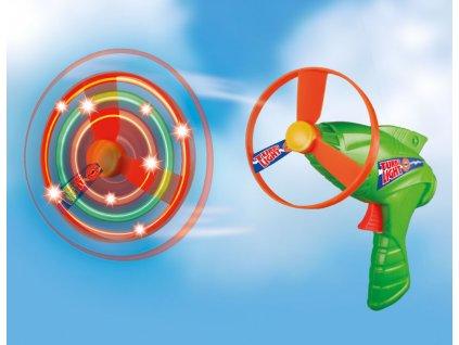 TURBO LIGHT vystreľovacie vrtuľky, 2 kusy, LED osvetlenie,